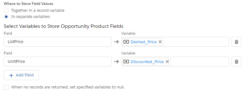 flow get records - where to store field values