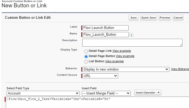 launch context - button -user context
