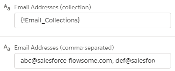 flow action - email address